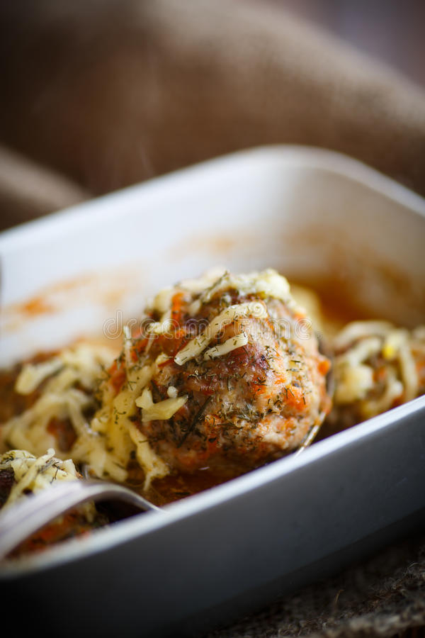 Download Steamed Meatballs Tangled Meat With Carrots Stock Photo - Image: 83713357