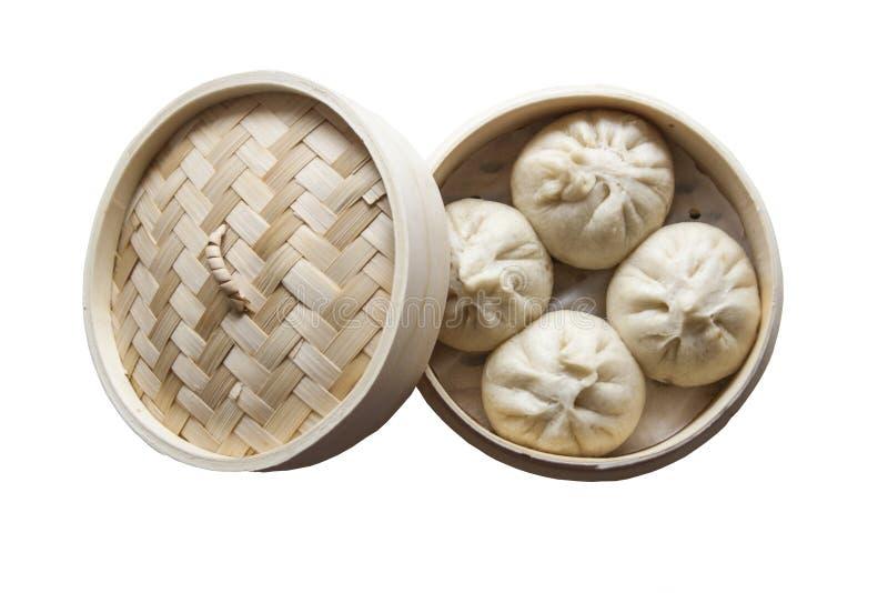 Steamed rellenó el bollo, comida china foto de archivo