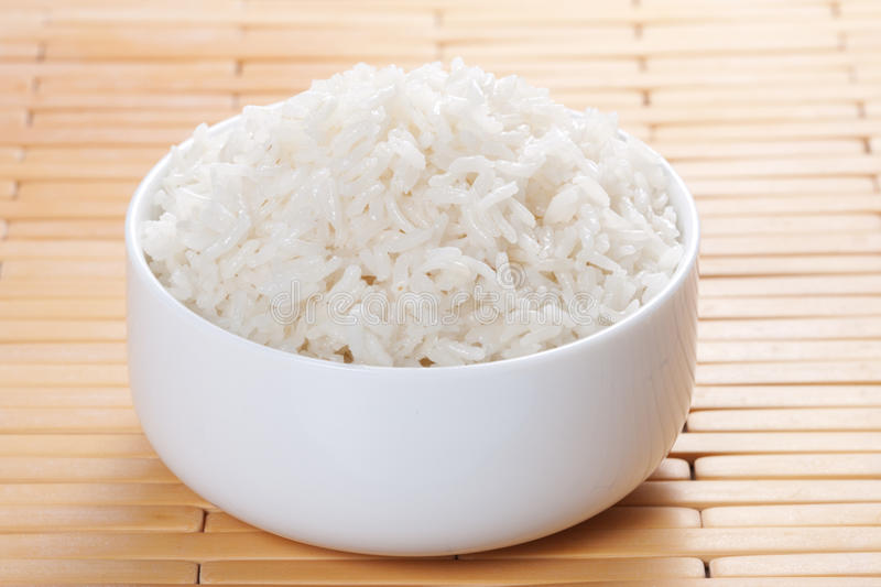 Download Steamed rice in bowl stock image. Image of cereal, cuisine - 18378953