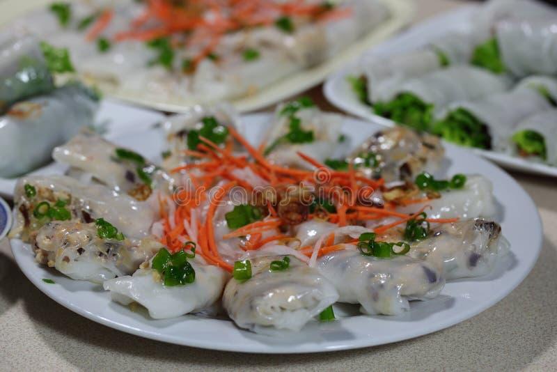 Steamed Rice Rolls royaltyfria bilder
