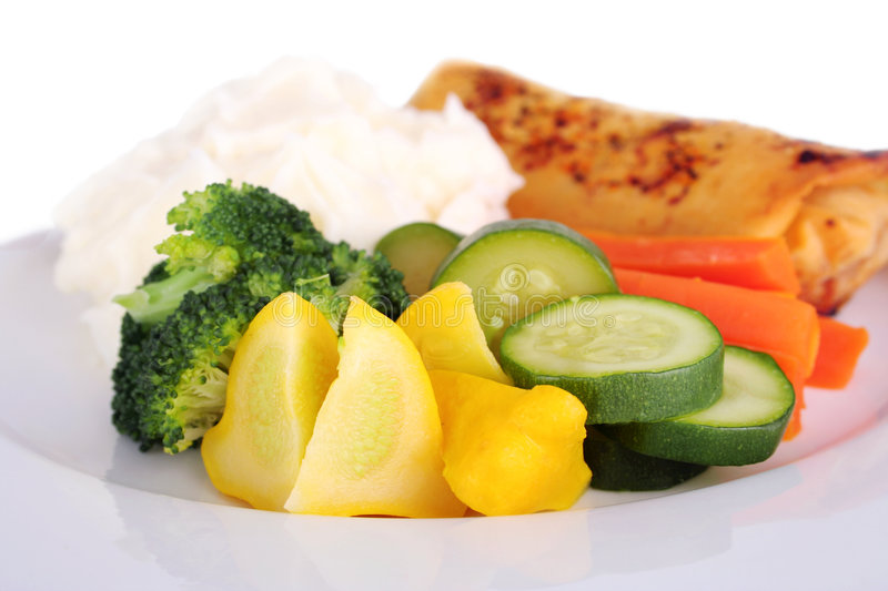 Steamed vegetables royalty free stock image