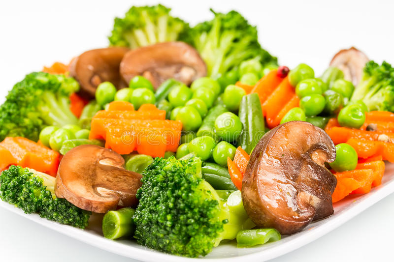 Steamed vegetables royalty free stock photo
