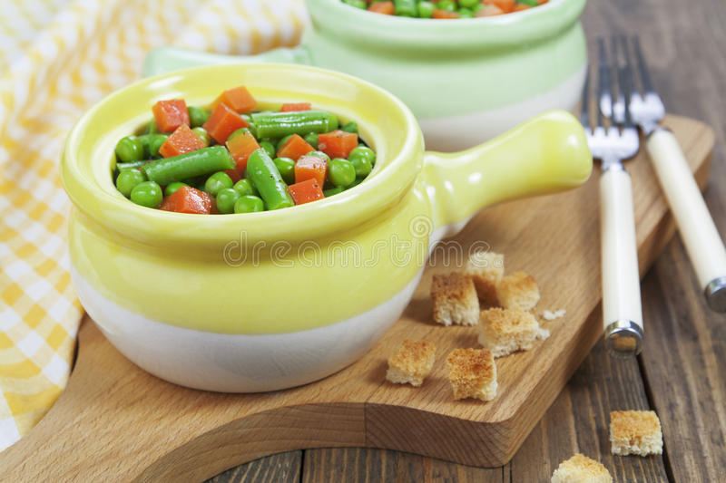Steamed vegetables. Vegetarian dish stock photography