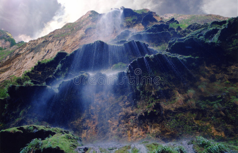Download Steaming Cascades stock image. Image of water, cliff, waterfall - 53761