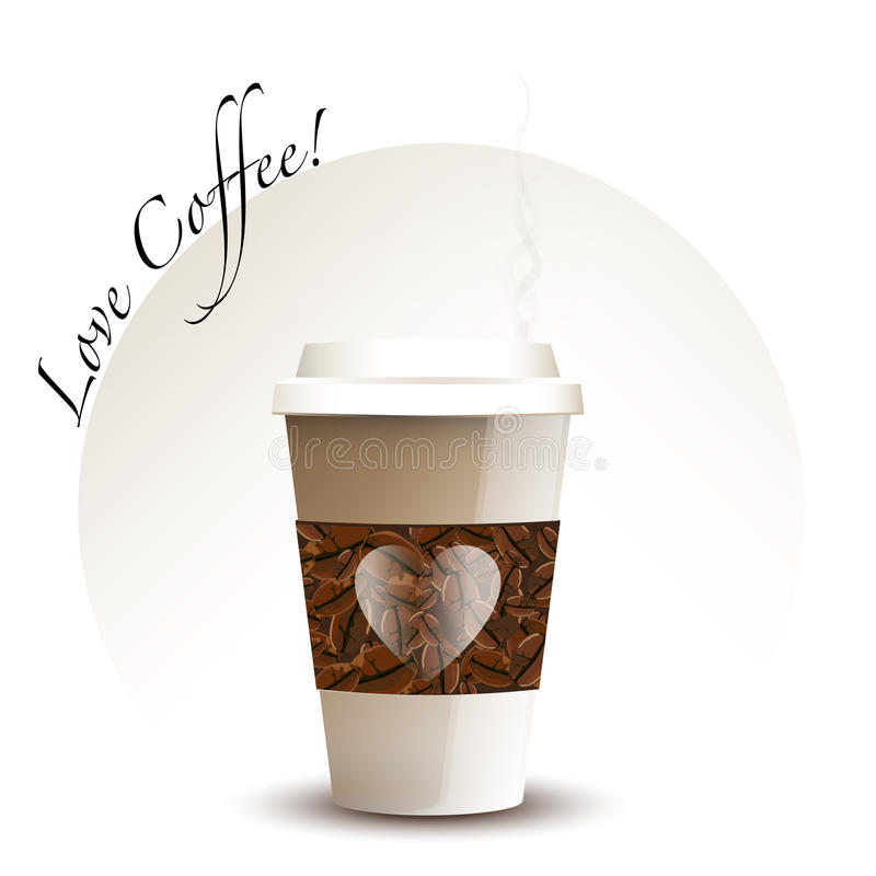 Takeaway Coffee Cup Stock Illustration. Illustration Of