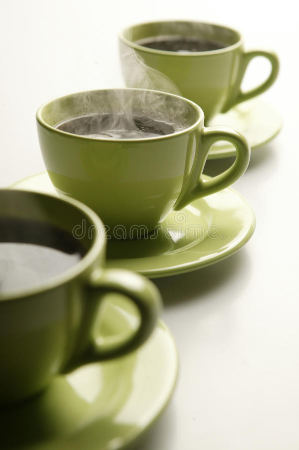 Download Steaming mugs 2 stock photo. Image of isolated, detail - 10912106
