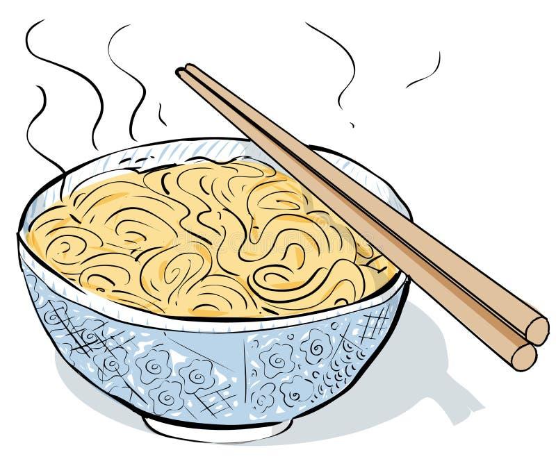 Steaming noodles vector illustration