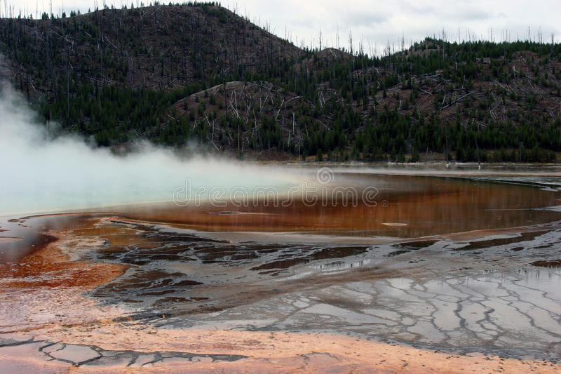 Steaming pool of desolation stock images