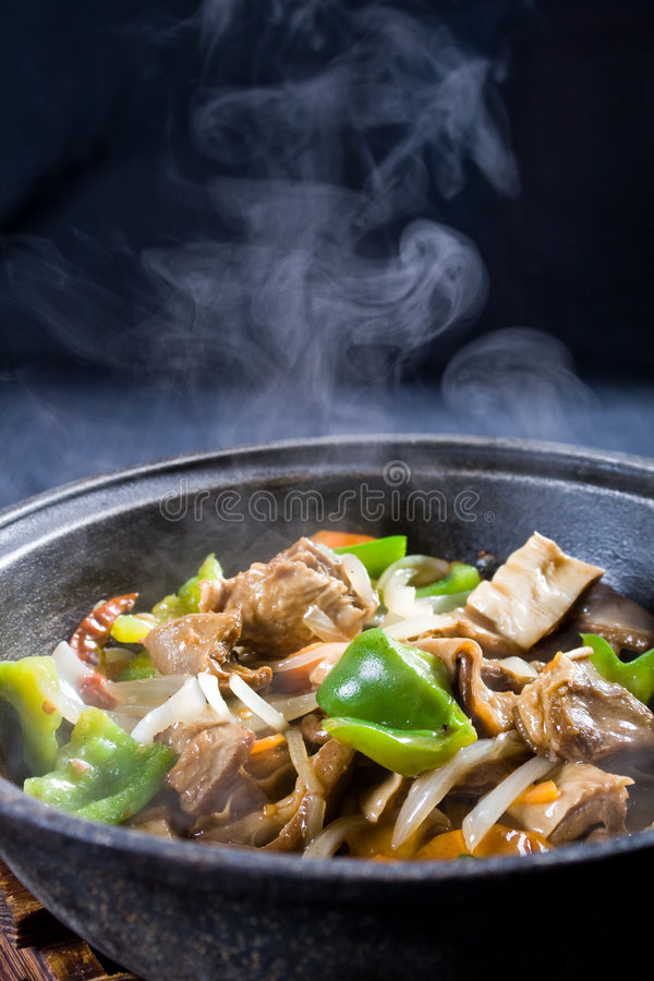 Steaming stew royalty free stock photo