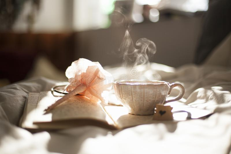 Steaming Tea Cup royalty free stock photo
