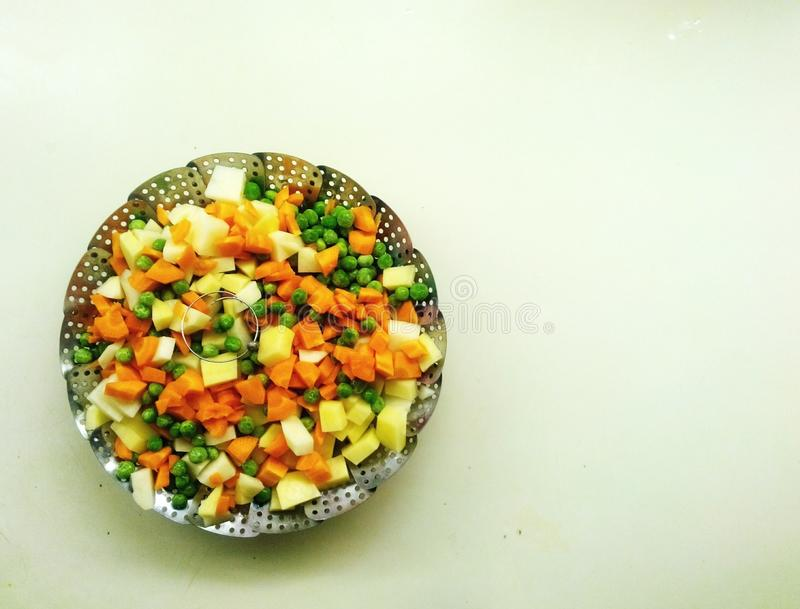 Steaming veges royalty free stock photo