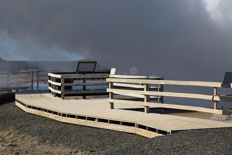 Geothermal Activity in Iceland stock photography