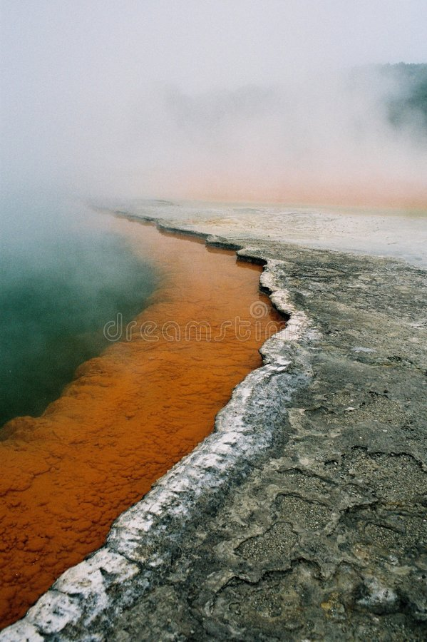 Download Steaming volcanic lake stock image. Image of carbon, active - 8558449