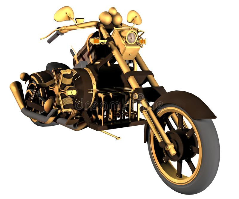Steampunk启发了摩托车 库存例证