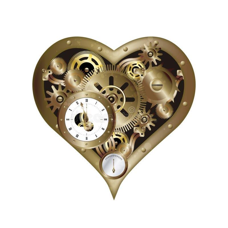 Steampunk心脏2 向量例证