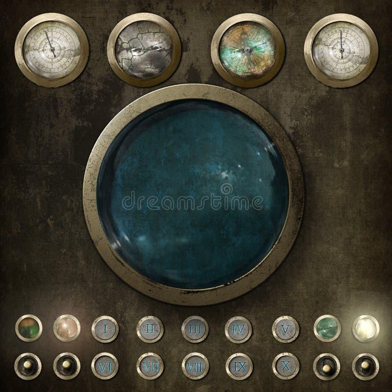 Steampunk控制板v2 免版税图库摄影