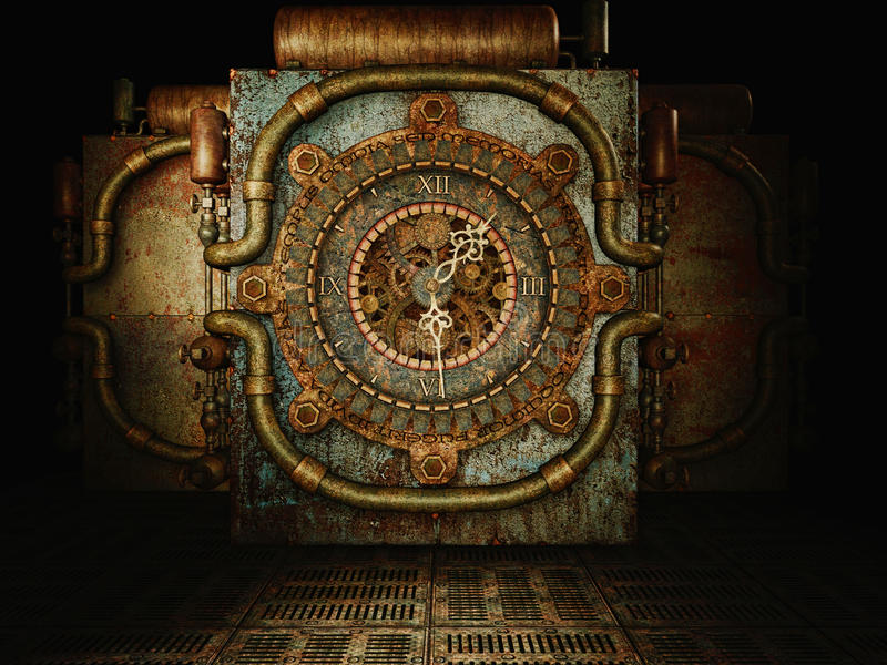 Steampunk时间 库存例证