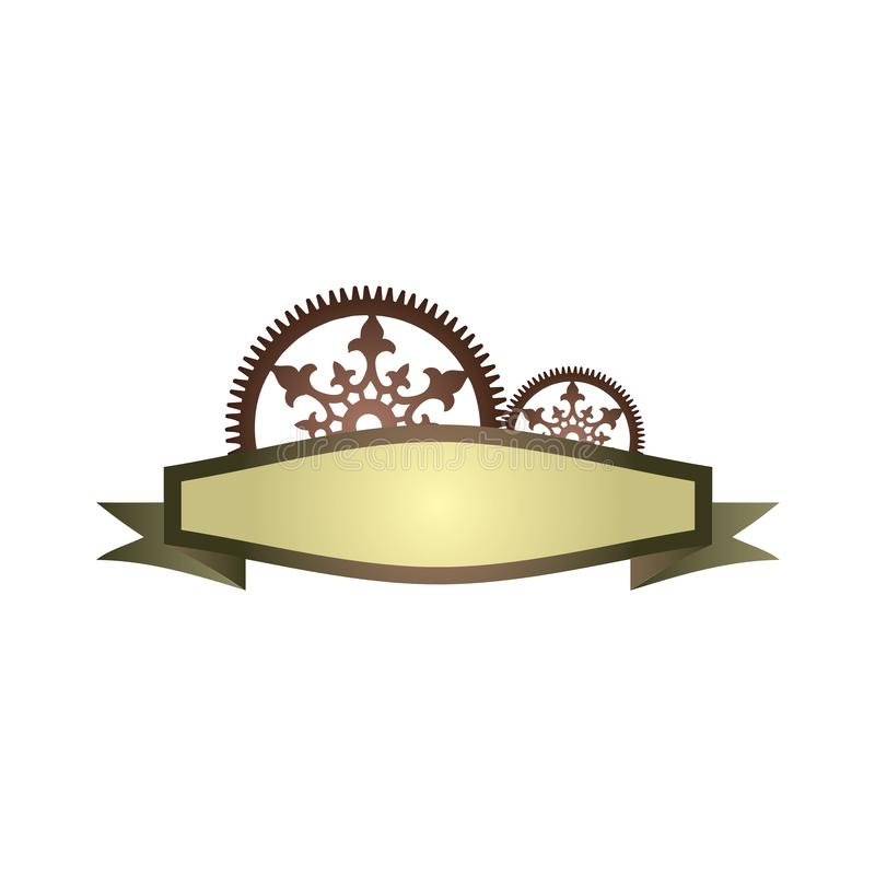 Steampunk标签设计 皇族释放例证