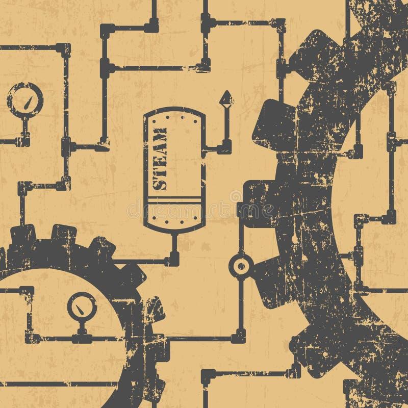 Steampunk样式 皇族释放例证