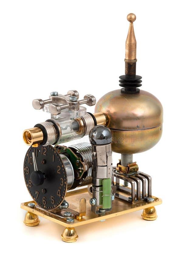 Steampunk玩具。发电器。 库存图片