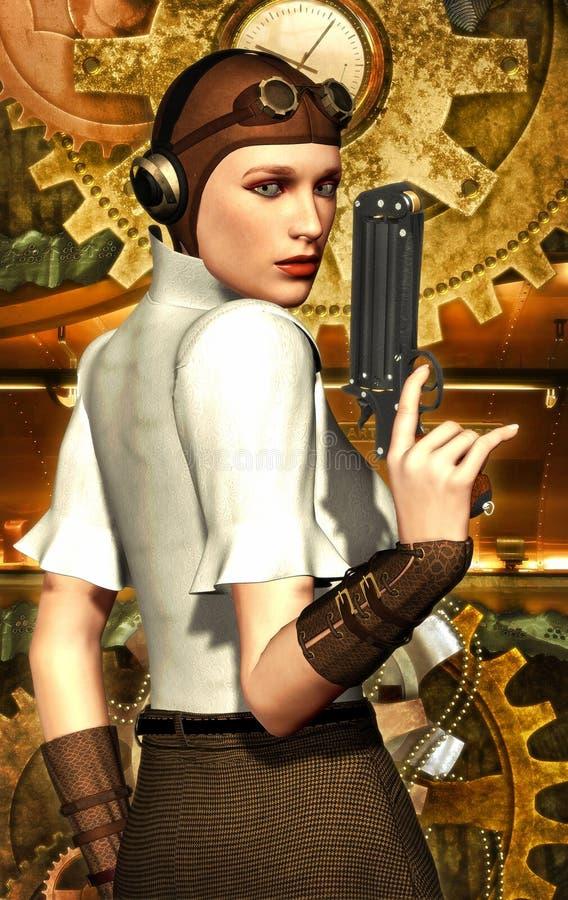 steampunk девушки иллюстрация вектора