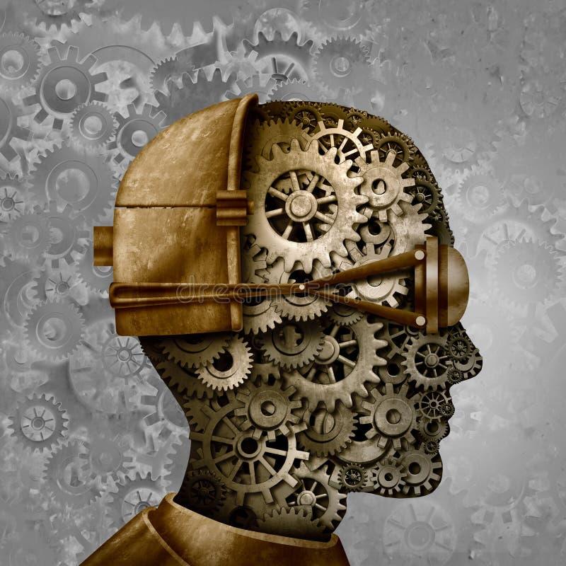 Steampunk и голова панка пара иллюстрация вектора