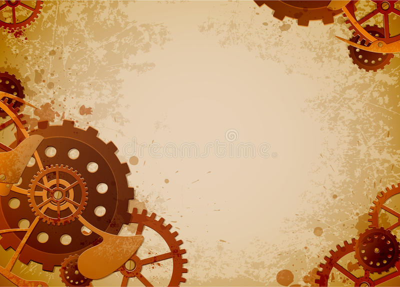 steampunk предпосылки иллюстрация штока