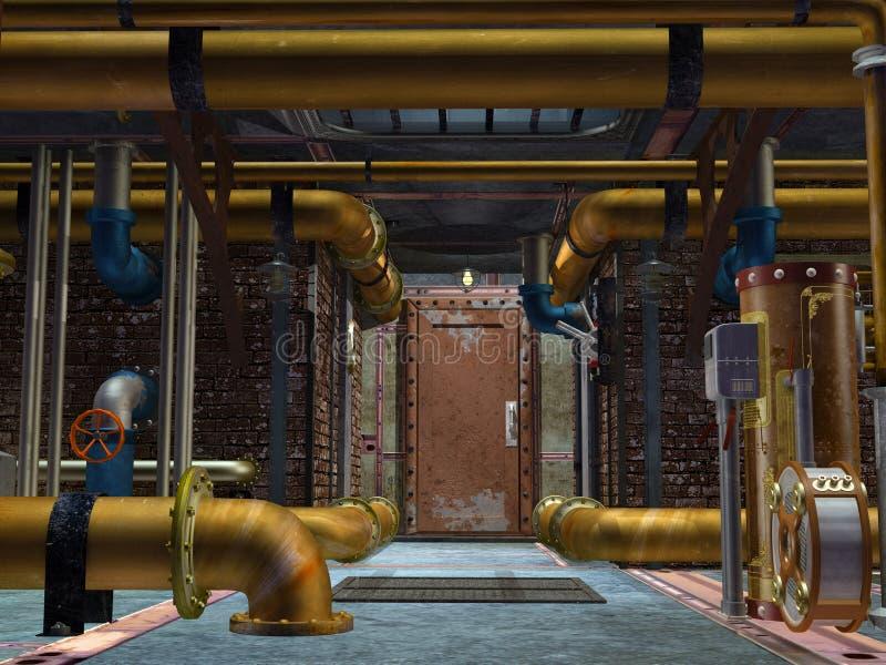 Steampunk建筑 库存例证