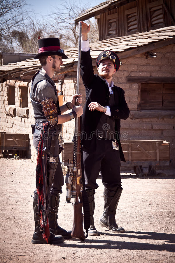 Download Steampunk editorial stock photo. Image of military, cosplayer - 20119223