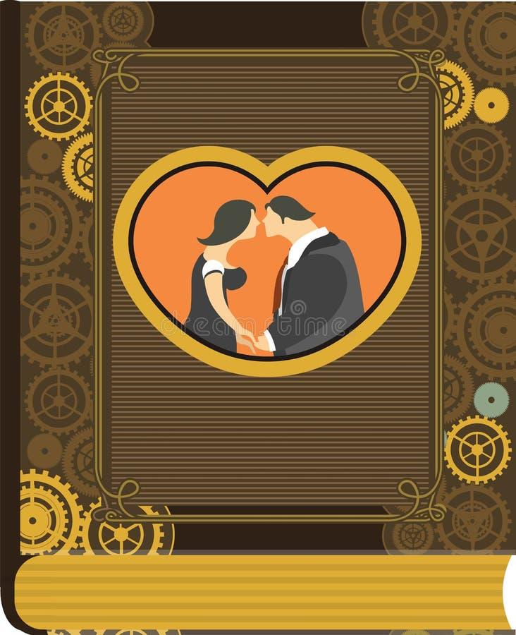 Steampunk albumu fotograficznego miłość ilustracji