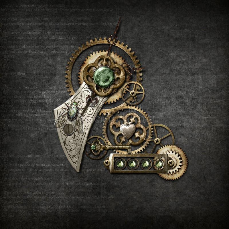 Steampunk auf Grau stockfoto