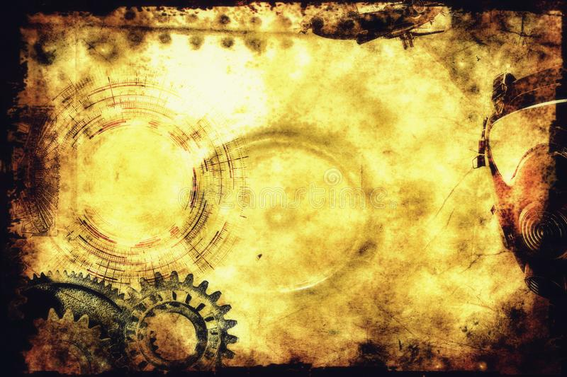 Steampunk background. A steampunk backdrop and or background and texture royalty free stock image