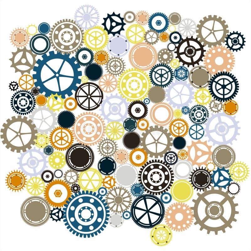 Steampunk bakgrund royaltyfri illustrationer