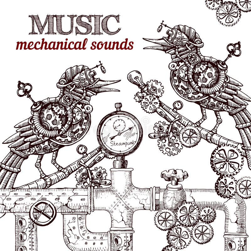 Mechanic Bird Stock Illustrations – 165 Mechanic Bird Stock
