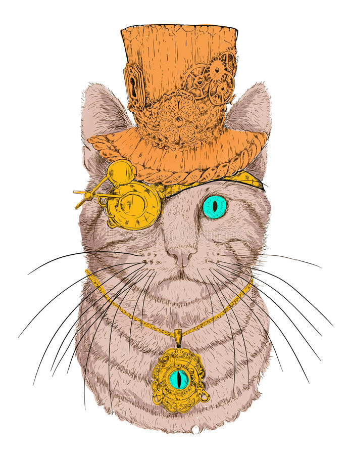 Cat With Hat And Glasses