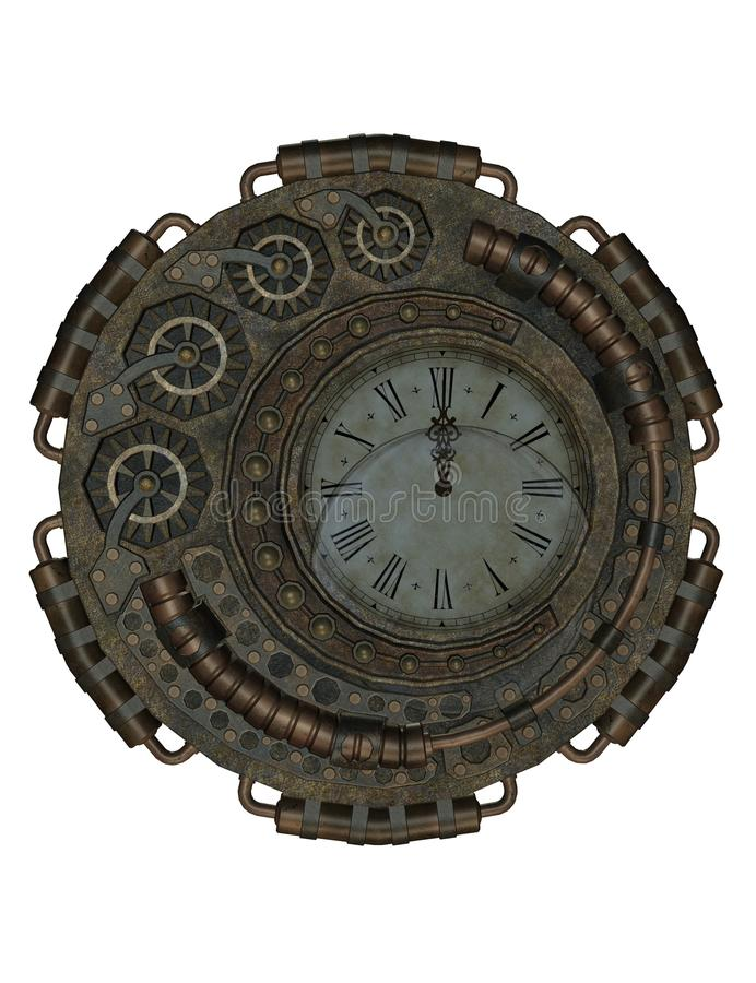 Steampunk clock royalty free stock photo
