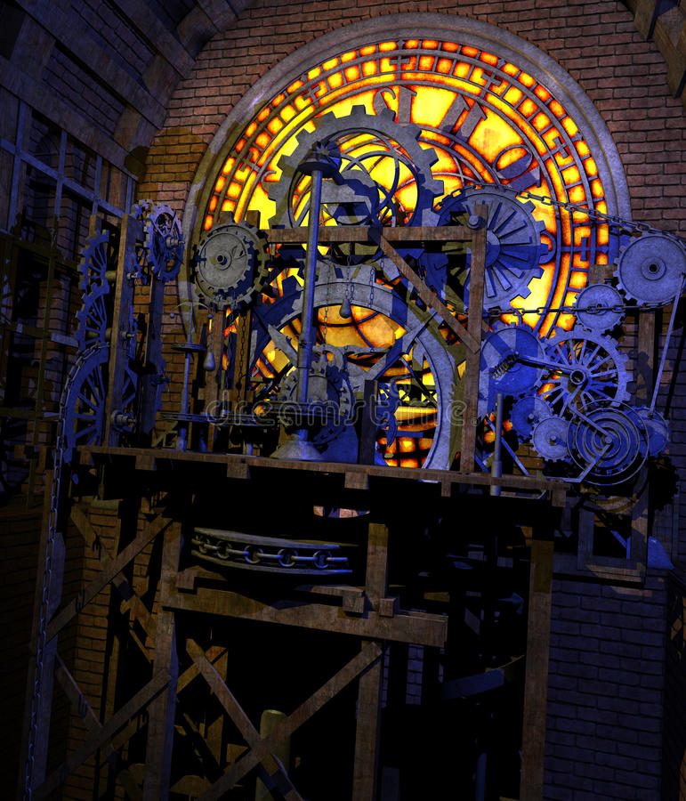 steampunk clockwork иллюстрация штока