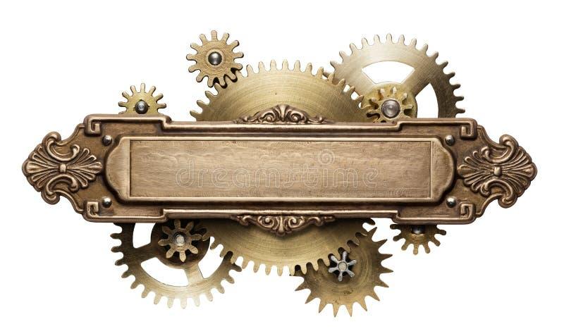 Steampunk clockwork mechanizm fotografia stock