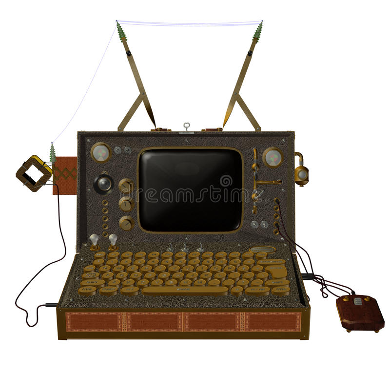 Steampunk computer 2 stock illustration