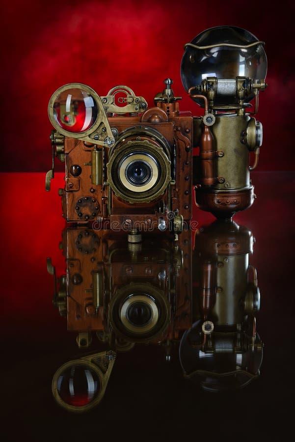 Steampunk da câmera. foto de stock royalty free