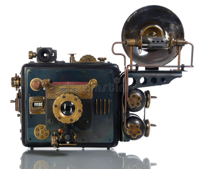 Steampunk da câmera foto de stock royalty free
