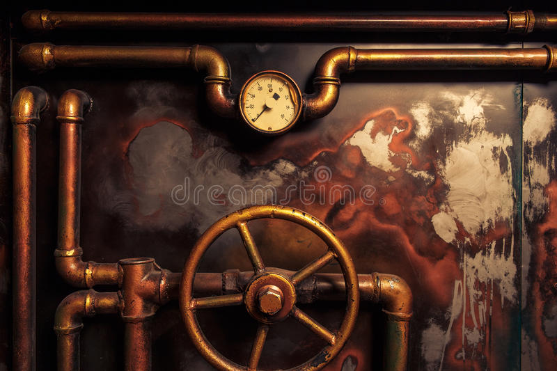 Steampunk do vintage do fundo foto de stock royalty free