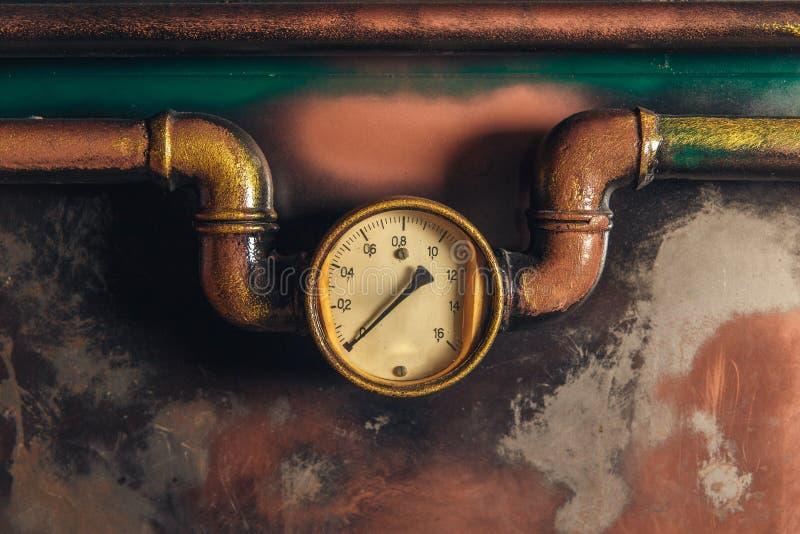 Steampunk do vintage do fundo imagens de stock