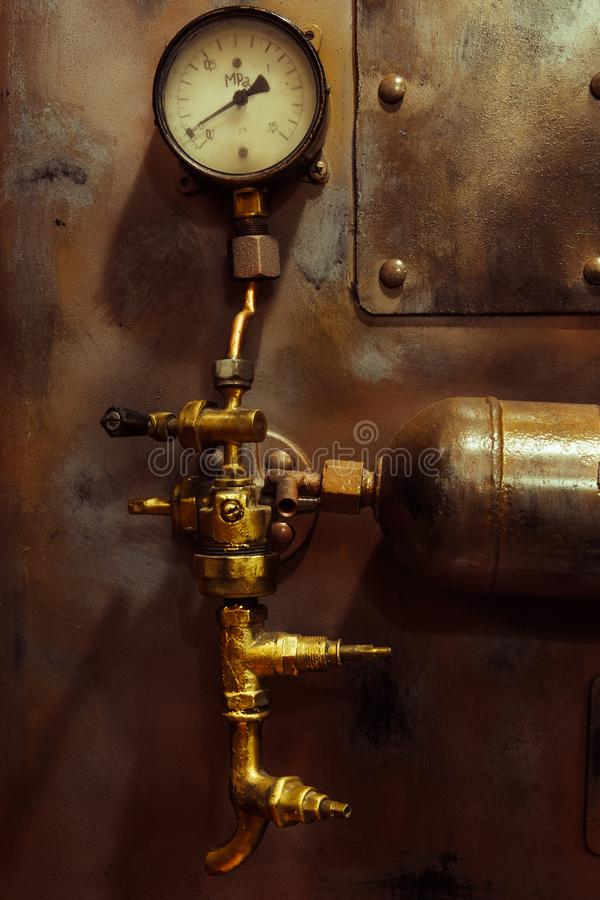 Steampunk do vintage do fundo imagem de stock