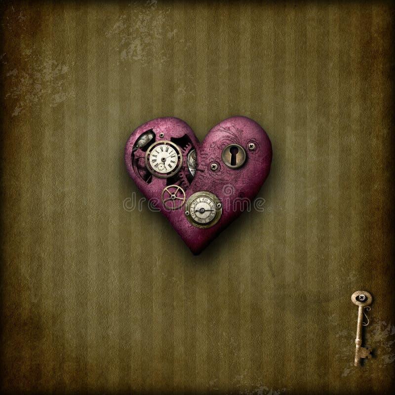Steampunk förälskelse arkivfoton