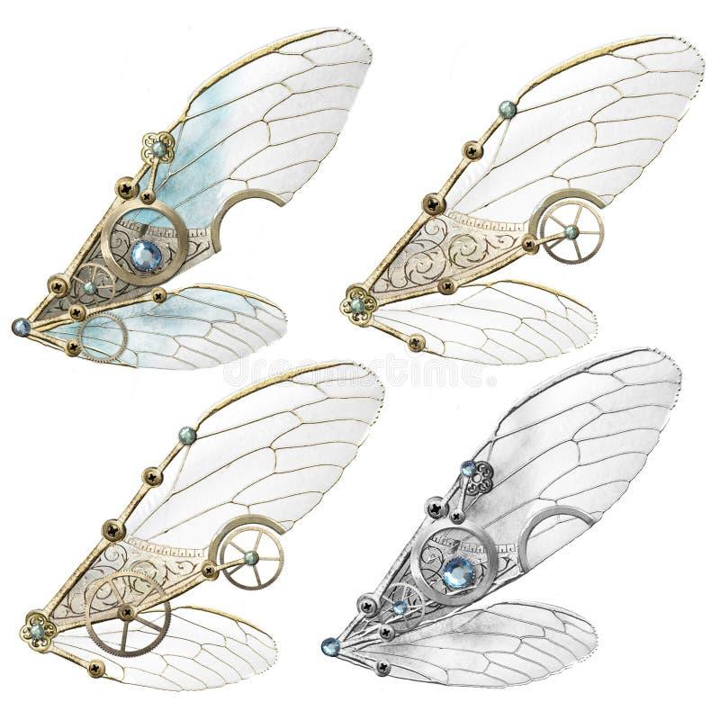 Steampunk Faerie skrzydła royalty ilustracja