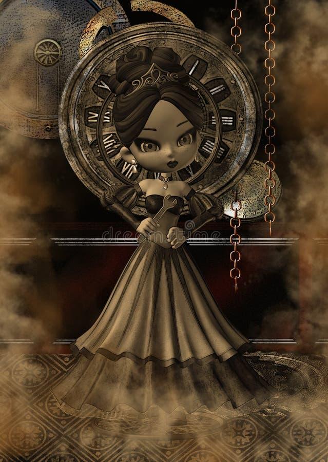 Steampunk fantasy art stock illustration. Illustration of ...