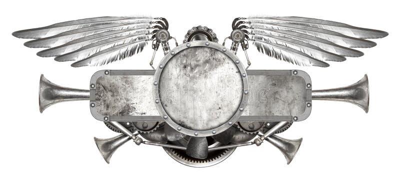 Steampunk-Flügel lokalisiert vektor abbildung