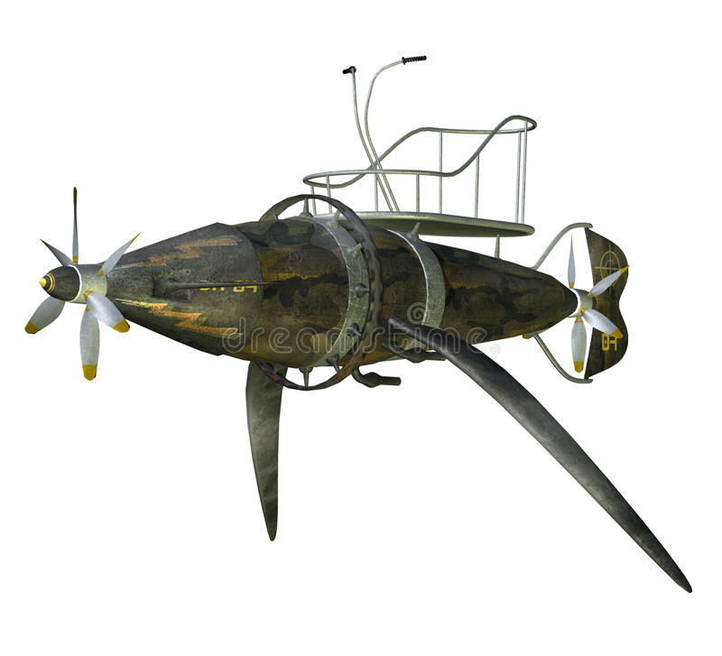 Steampunk flying machine 2 royalty free illustration