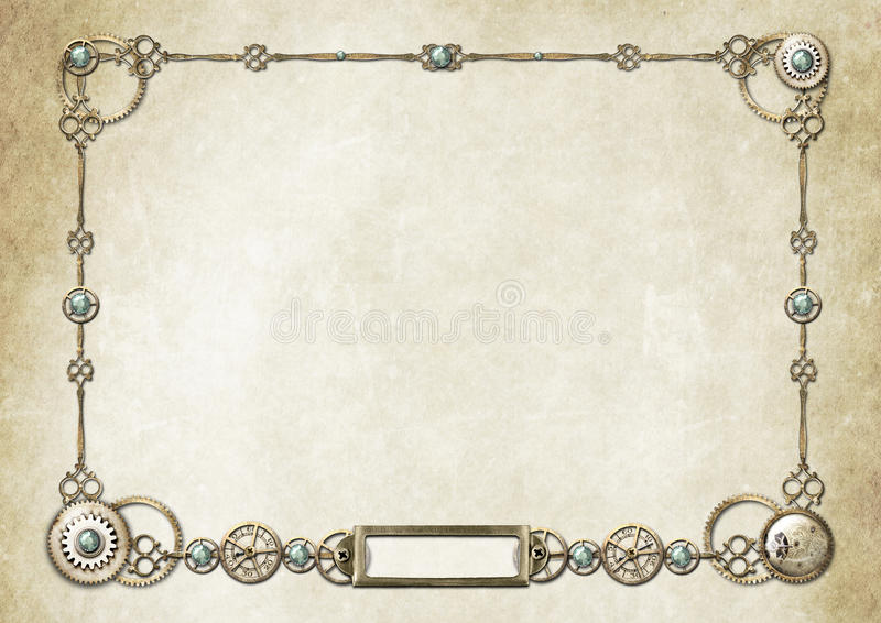 Download Steampunk Frame 2 Royalty Free Stock Photo - Image: 25236125